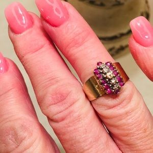 Jewelry - Real ruby and diamond ring